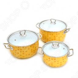 фото Набор кастрюль Interos Янтарь, Наборы посуды для готовки