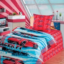 фото Комплект постельного белья Непоседа Автогонки, Детские комплекты постельного белья