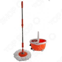 Швабра Easy Mop с механизмом отжима и полоскания HAPPY MOP.