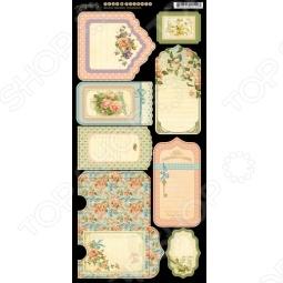 фото Набор стикеров Graphic45 Tags & Pockets Secret Garden, купить, цена