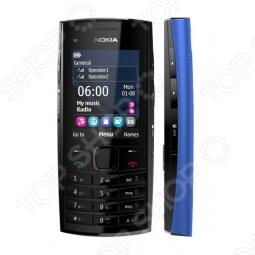 фото Мобильный телефон Nokia X 2-02 Ocean Blue, Мобильные телефоны с 2-я sim-картами