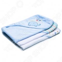 фото Комплект полотенец с капюшоном Spasilk «Слоник», Полотенца. Салфетки для купания
