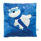Купить Подушка с аппликацией Sochi 2014 «Белый Мишка-лыжник»