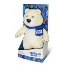Купить Мягкая игрушка Sochi 2014 «Белый Мишка с шарфом» 40 см