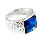 Купить Кольцо Jenavi Алудра. Вставка: Swarovski синий кристалл