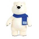 Купить Игрушка Талисман Sochi 2014 «Белый Мишка с шарфом» 18 см
