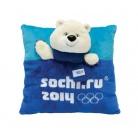 Купить Подушка из плюша Sochi 2014 «3D Белый Мишка» 30х30 см