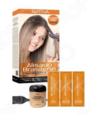 Набор для кератинового выпрямления и восстановления волос с маслом Арганы Kativa