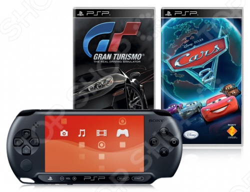 Консоль игровая SONY PlayStation Portable E-1008 и игры GT и Cars 2
