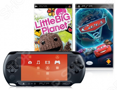 Консоль игровая SONY PlayStation Portable Street и игры LittleBigPlanet и Cars 2