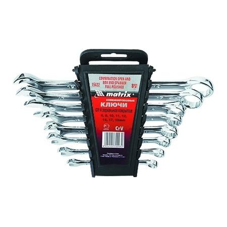Купить Набор ключей комбинированных MATRIX матовый хром, 8 шт.