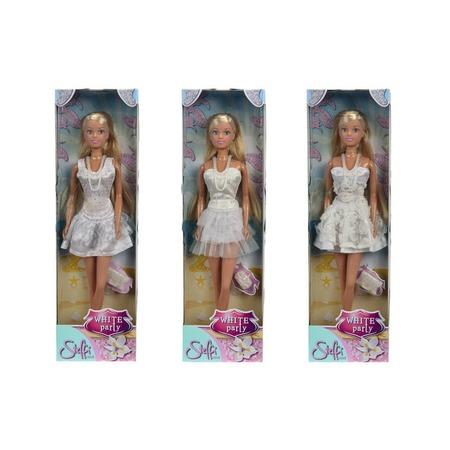 Купить Кукла Simba Штеффи в белом платье. В ассортименте