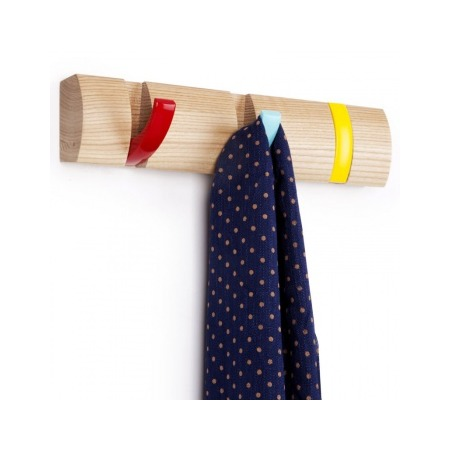 Купить Вешалка настенная горизонтальная с 3-мя крючками Umbra Flip
