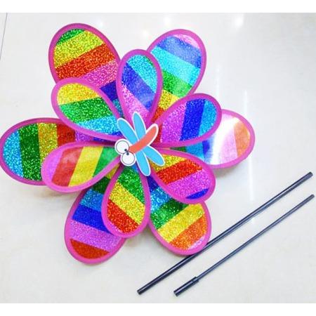 Купить Игрушка-ветерок Shantou Gepai «Вертушка двойная Радуга с насекомым»