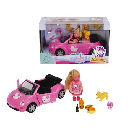 Купить Кукла Еви на машине с собачкой Simba Hello Kitty