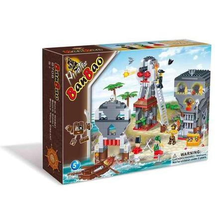 Купить Конструктор Banbao Сражение на острове пиратов, 440 деталей