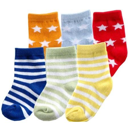 Купить Носочки Luvable Friends «Весёлые полоски» (6 пар)