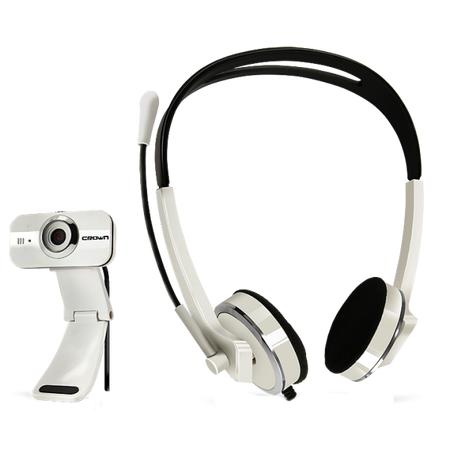 Купить Веб-камера с гарнитурой Crown CMCP-004. В ассортименте