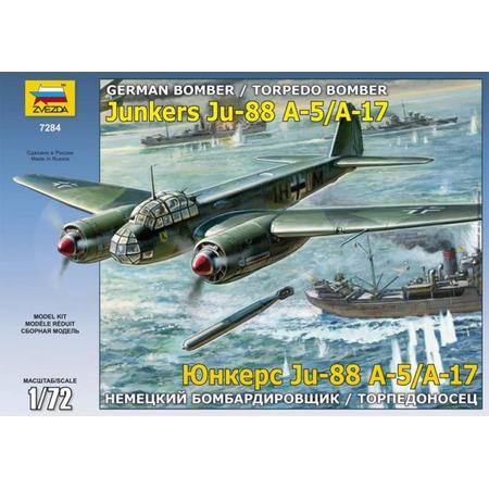 Купить Сборная модель Звезда «Немецкий бомбардировщик/торпедоносец Ju-88 А-17/А-5»