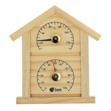 Купить Термометр для бани и сауны Банные штучки «Домик» с гигрометром