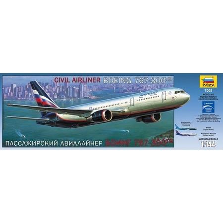 Купить Сборная модель Звезда Пассажирский авиалайнер «Боинг 767-300»