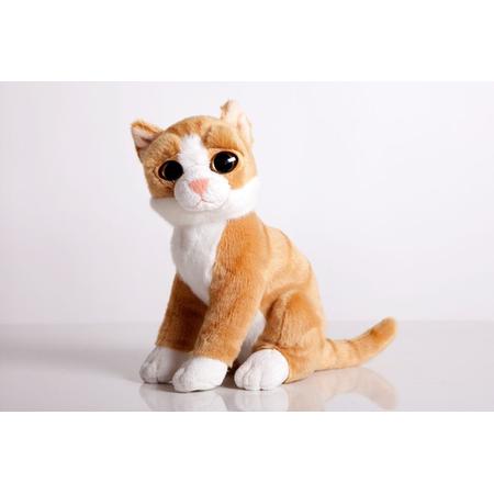 Купить Мягкая игрушка Gulliver Котик рыжий «Глазастик» сидячий