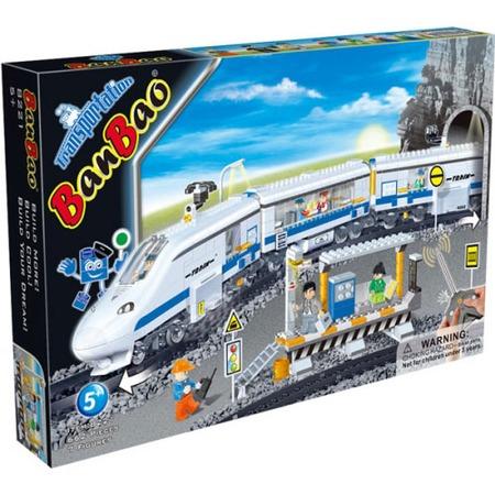 Купить Конструктор Banbao Скоростной поезд на радио управлении, 662 детали