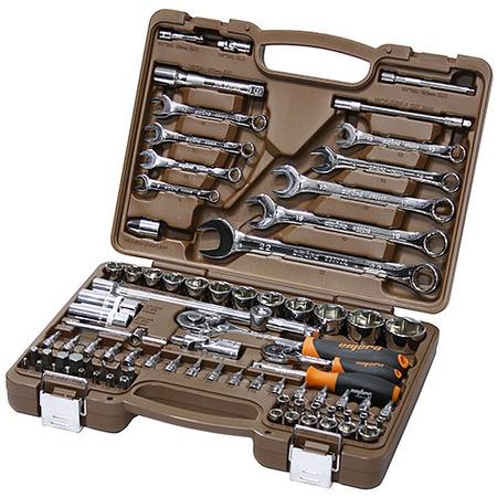 Купить Универсальный набор инструментов: торцевые головки с аксессуарами и комбинированные ключи Ombra OMT82S