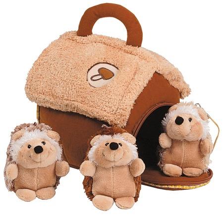 Купить Мягкая игрушка Gulliver Домик-сумка с 3-мя ежиками