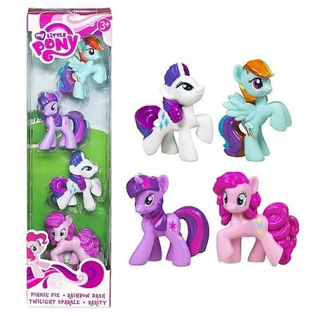 Купить Набор игровой для девочек из 4 пони Hasbro
