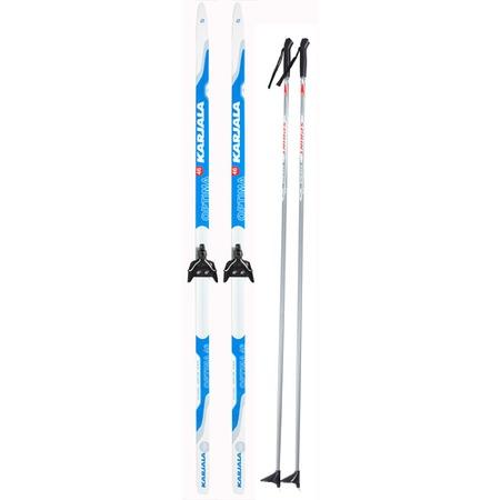 Купить Комплект лыжный с палками Karjala Optima 46 wax. Система крепления: 75 мм