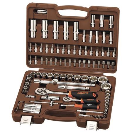 Купить Универсальный набор инструментов: торцевые головки с 12-гранными головками и аксессуарами Ombra OMT94S12