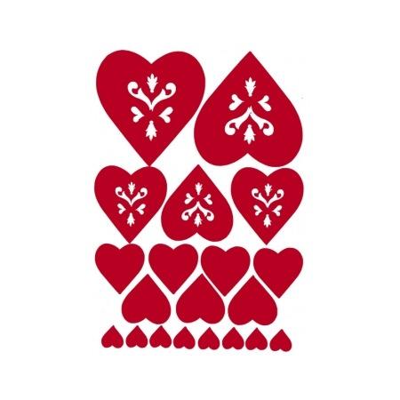 Купить Наклейки для декорирования стен Rayher «Сердца»