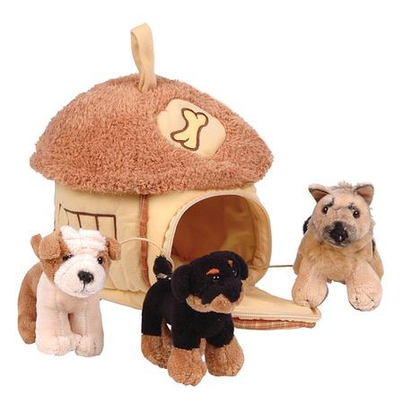 Купить Мягкая игрушка Gulliver Домик-сумка с 3-мя собачками