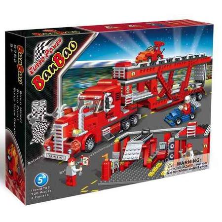 Купить Конструктор Banbao Грузовик-автовоз, 700 деталей