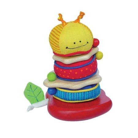 Купить Игрушка-пирамидка I'm toy «Мягкая гусеничка»