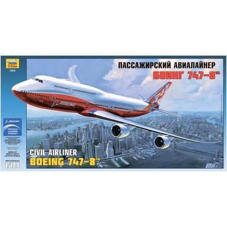 Купить Сборная модель Звезда Пассажирский авиалайнер «Боинг 747-8»