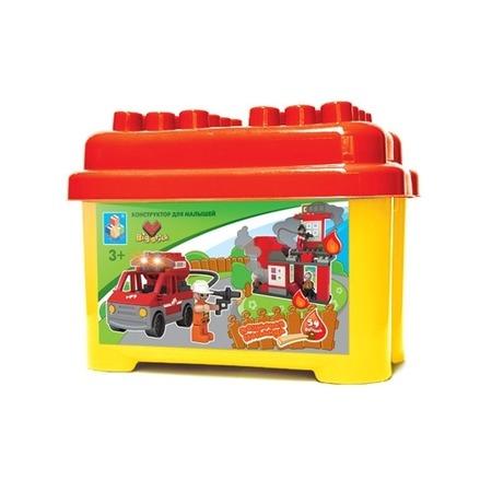 Купить Конструктор 1 TOY Т52215 Пожарная команда