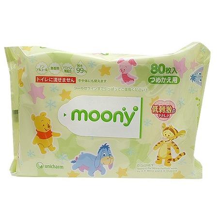 Купить Салфетки влажные детские MOONY после туалета 80 шт