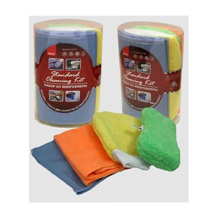 Купить Набор из микрофибры Standard Cleaning Kit (руковица, губка, 2 салфетки)