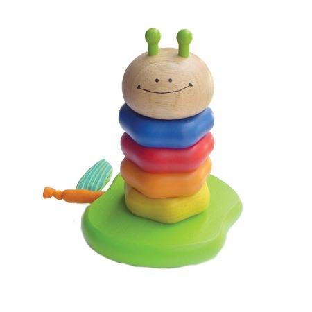 Купить Игрушка-пирамидка I'm toy «Деревянная гусеничка»