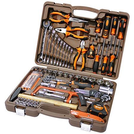 Купить Универсальный набор инструментов: торцевые головки с аксессуарами, комбинированные ключи и отвертки Ombra OMT101S