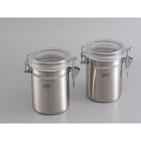 Купить Набор из 2 банок для герметичного хранения сыпучих продуктов Gipfel 5583