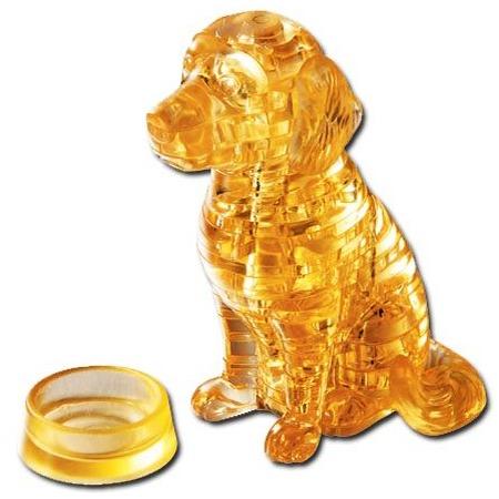 Купить Кристальный пазл 3D Crystal Puzzle «Золотой ретривер»