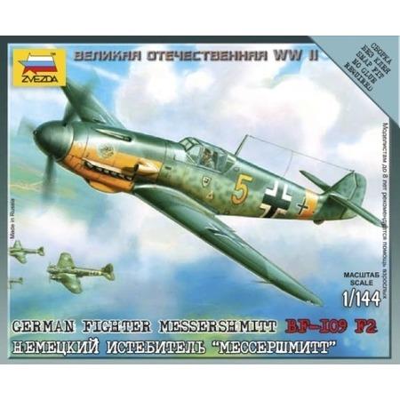 Купить Сборная модель Звезда немецкий истребитель Мессершмитт BF-109F2 20731