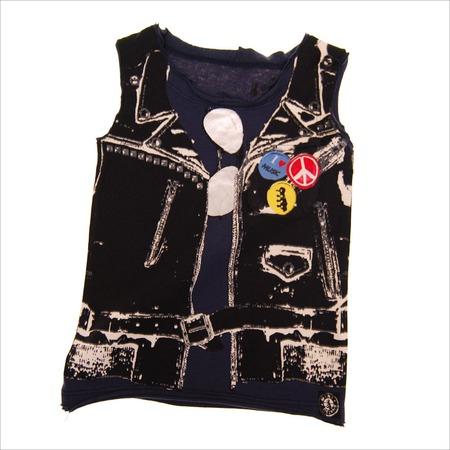 Купить Майка с аппликацией Mini Shatsu Leather Vest Muscle