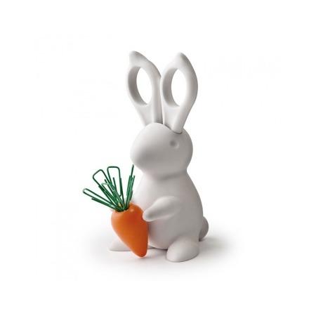 Купить Ножницы и магнит со скрепками Qualy Bunny