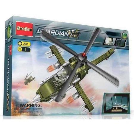Купить Конструктор Banbao Военный вертолет, 231 деталь