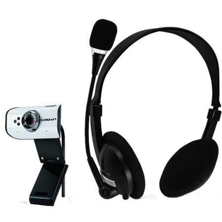 Купить Веб-камера с гарнитурой Crown CMCP-005. В ассортименте