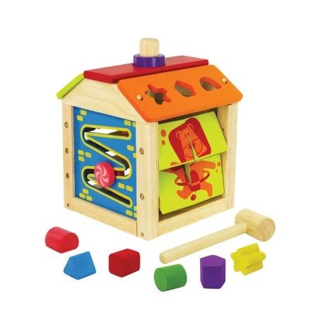 Купить Развивающая игрушка I'm toy «Сортер, пазл, лабиринт, стучалка, часы, цветные кубики»